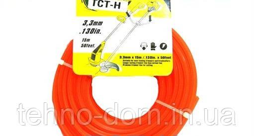 Леска для косилки круглая d=3.3 mm, 15 m