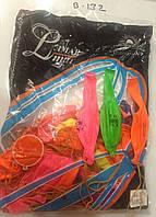 Воздушные шарики для праздников цветные с рисунком на резинке