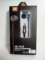 Проводные вакуумные наушники JBL T528 с микрофоном