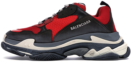 Мужские кроссовки Balenciaga Triple S Red Black (Pre-Distressed) 516440-W09O7-6576, Баленсиага Трипл С, фото 2
