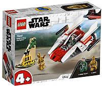 Конструктор LEGO Star Wars Повстанческий истребитель A-WING STARFIGHTER™ 62 деталей (75247)