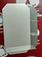 Зеркало с тонированным декором фигурное №42 /Дюбель в Подарок