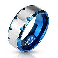 Кольцо из нержавеющей стали Spikes SR1179 15.75, Синий