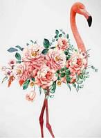Алмазная мозаика Фламинго в цветах на подрамнике 40 х 30 см (арт. TN799)