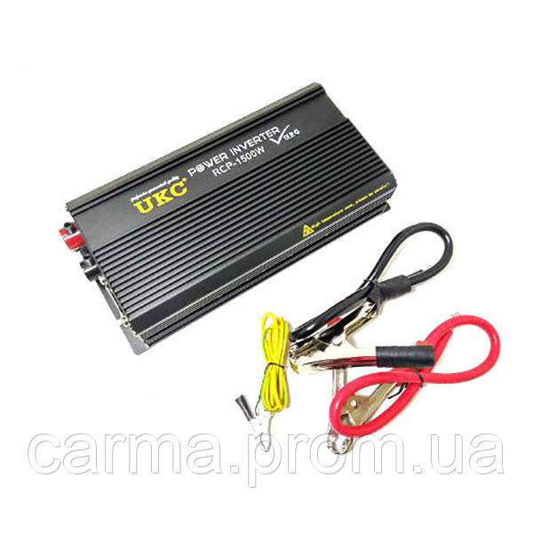 Профессиональный преобразователь инвертор UKC 1500W RCP AC/DC 12V