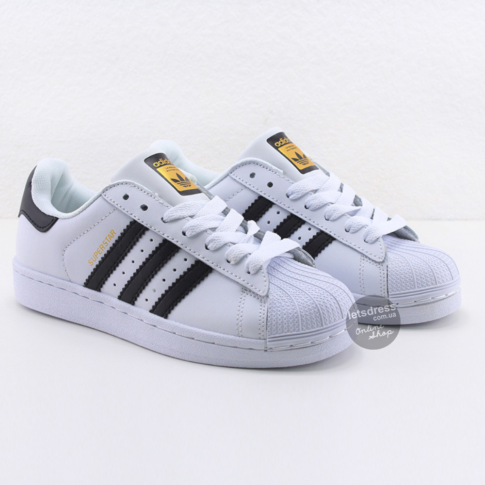 ✅ Кроссовки мужские Adidas Superstar White-Black    Адидас Суперстар мужские белые  Вьетнам 39