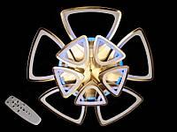 Светодиодная люстра с пультом-диммером и синей подсветкой бронза 3007-5+5
