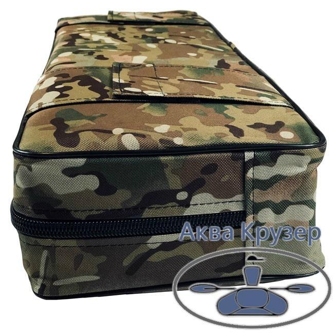 Мягкая накладка 650х200х100 мм на сиденье надувной лодки, цвет камуфляж
