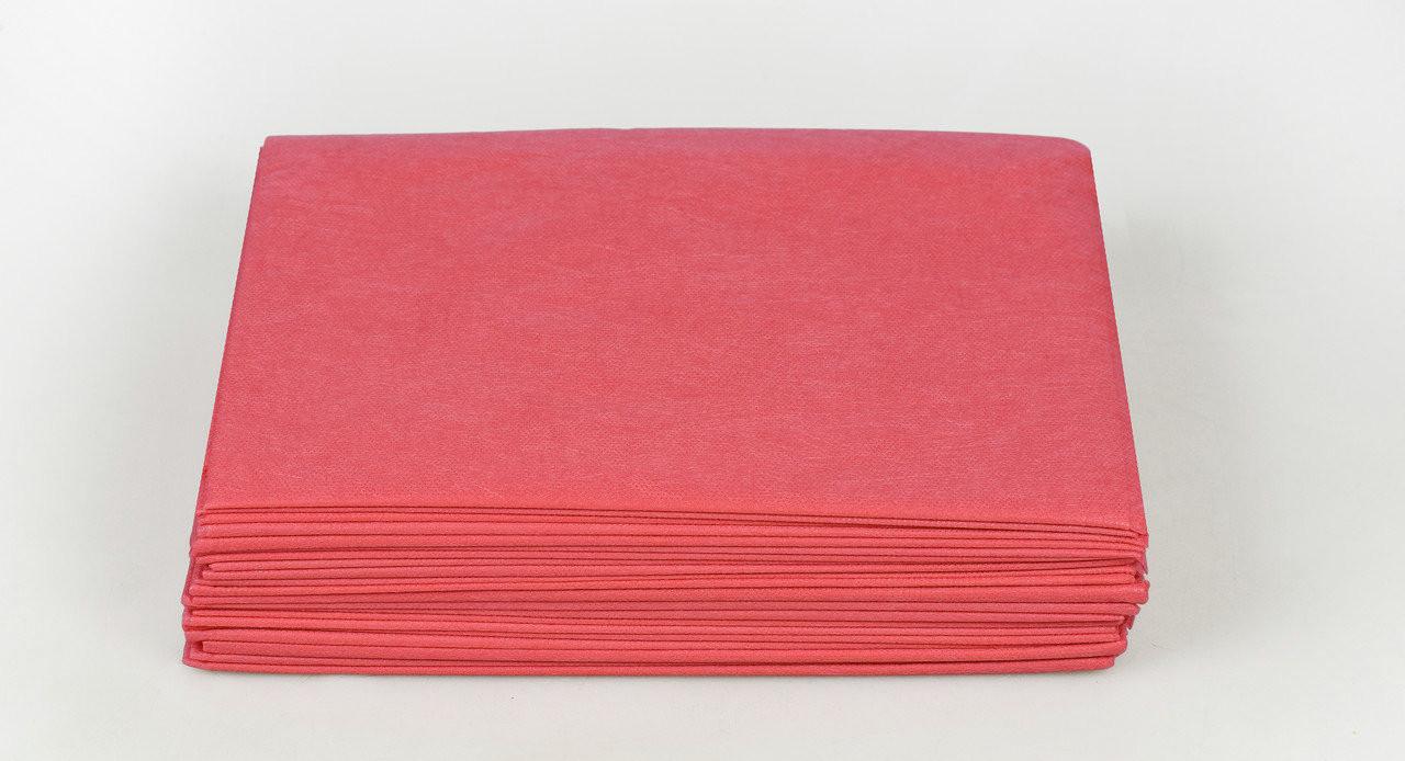 Одноразовые простыни в пачке Спанбонд Panni Mlada 20 г/м² 0,6x2 м 50 ШТ/УП Красные