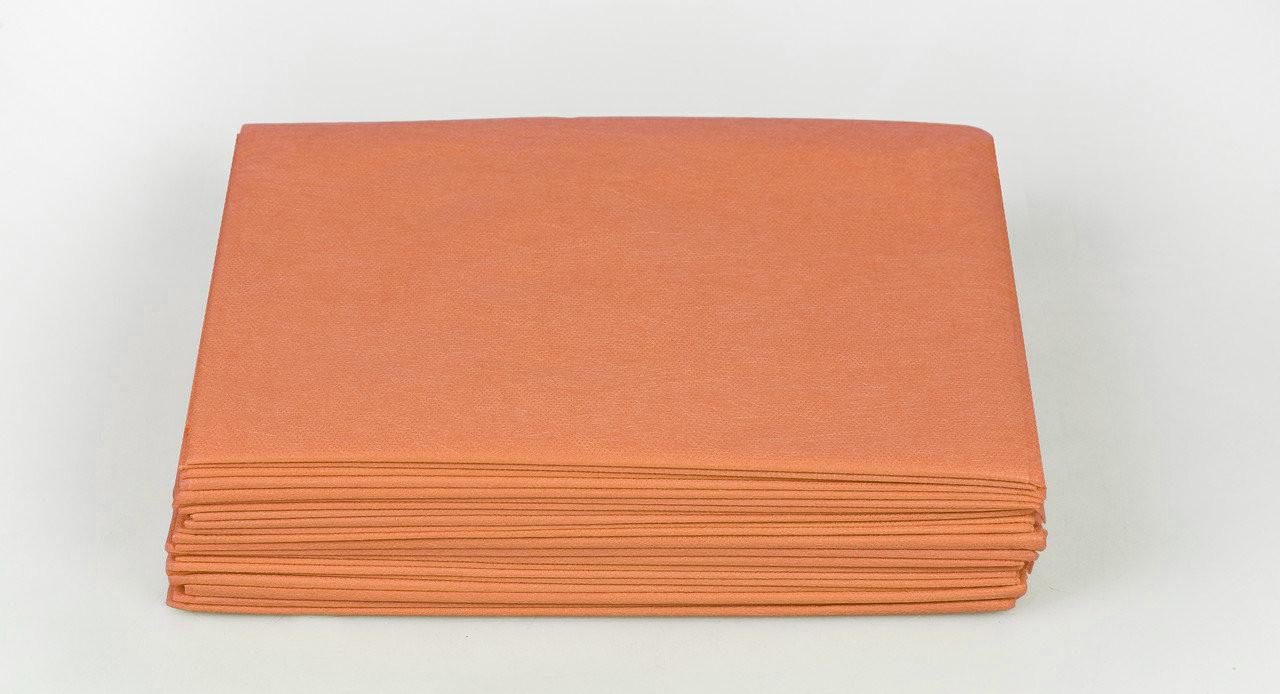 Одноразовые простыни в пачке Спанбонд Panni Mlada 20 г/м² 0,6x2 м 10 УП 500 ШТ Коралловые