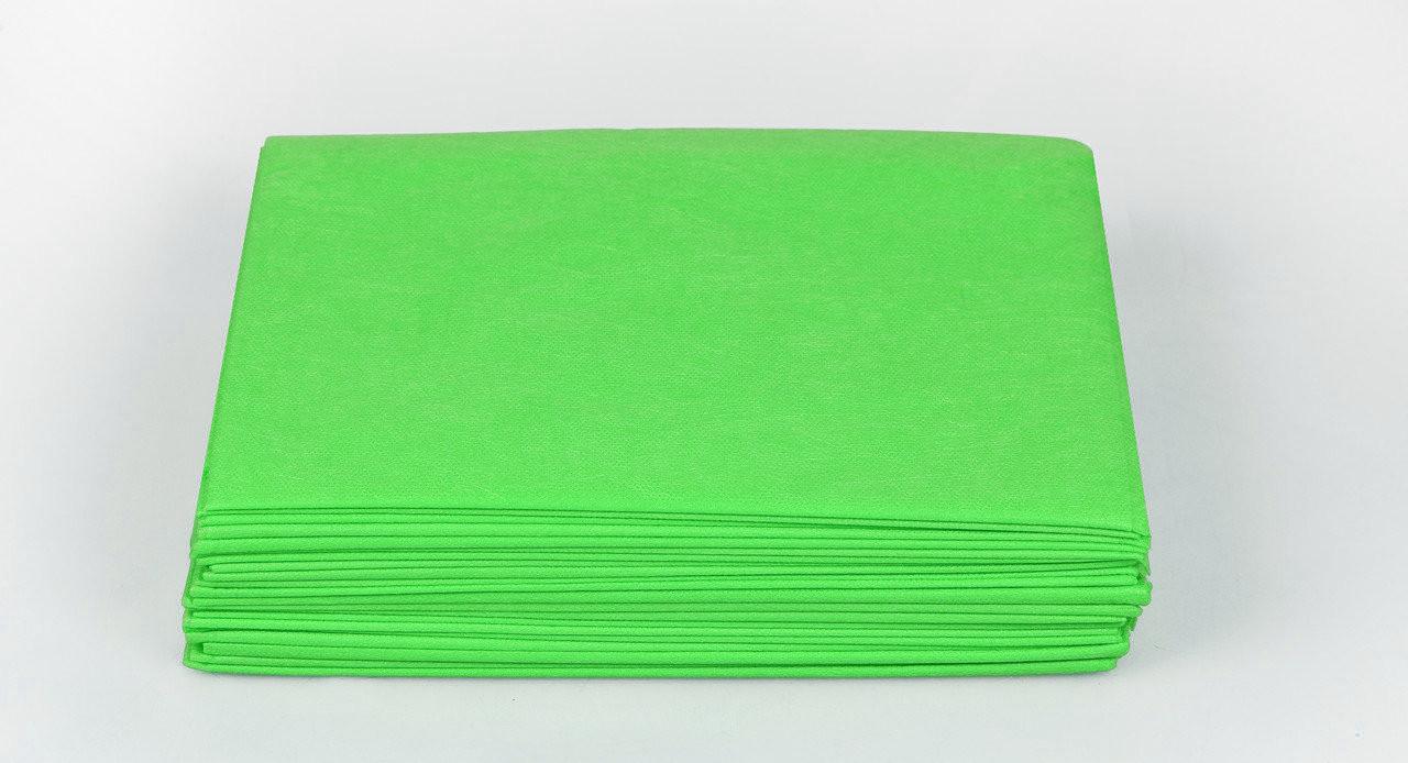 Одноразові простирадла в пачці Спанбонд Panni Mlada 20 г/м2 0,6x2 м 10 УП 500 ШТ Зелені