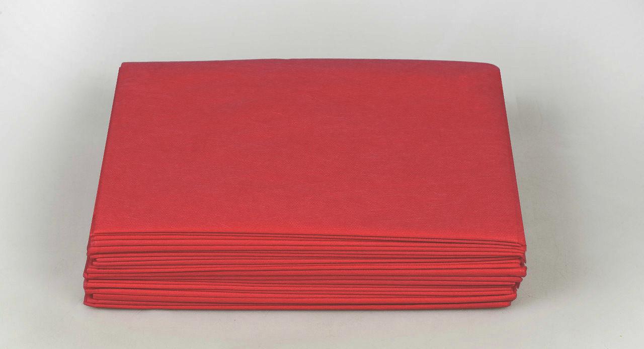 Одноразовые простыни в пачке Спанбонд Panni Mlada 20 г/м² 0,6x2 м 10 УП 1000 ШТ Бордовые