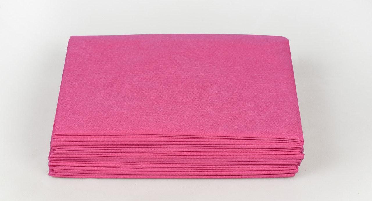 Одноразовые простыни в пачке Спанбонд Panni Mlada 20 г/м² 0,8x2 м 10 УП 200 ШТ Малиновые