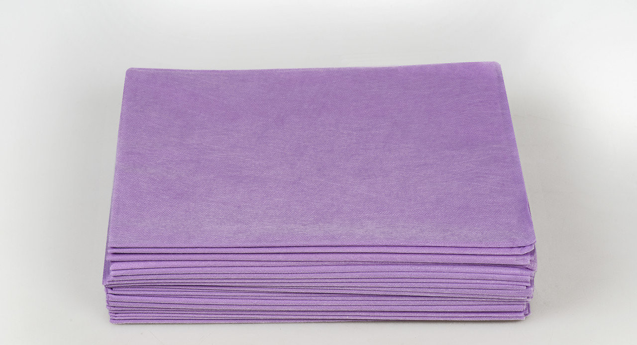 Одноразовые простыни в пачке Спанбонд Panni Mlada 20 г/м² 0,8x2 м 50 ШТ/УП Лиловые