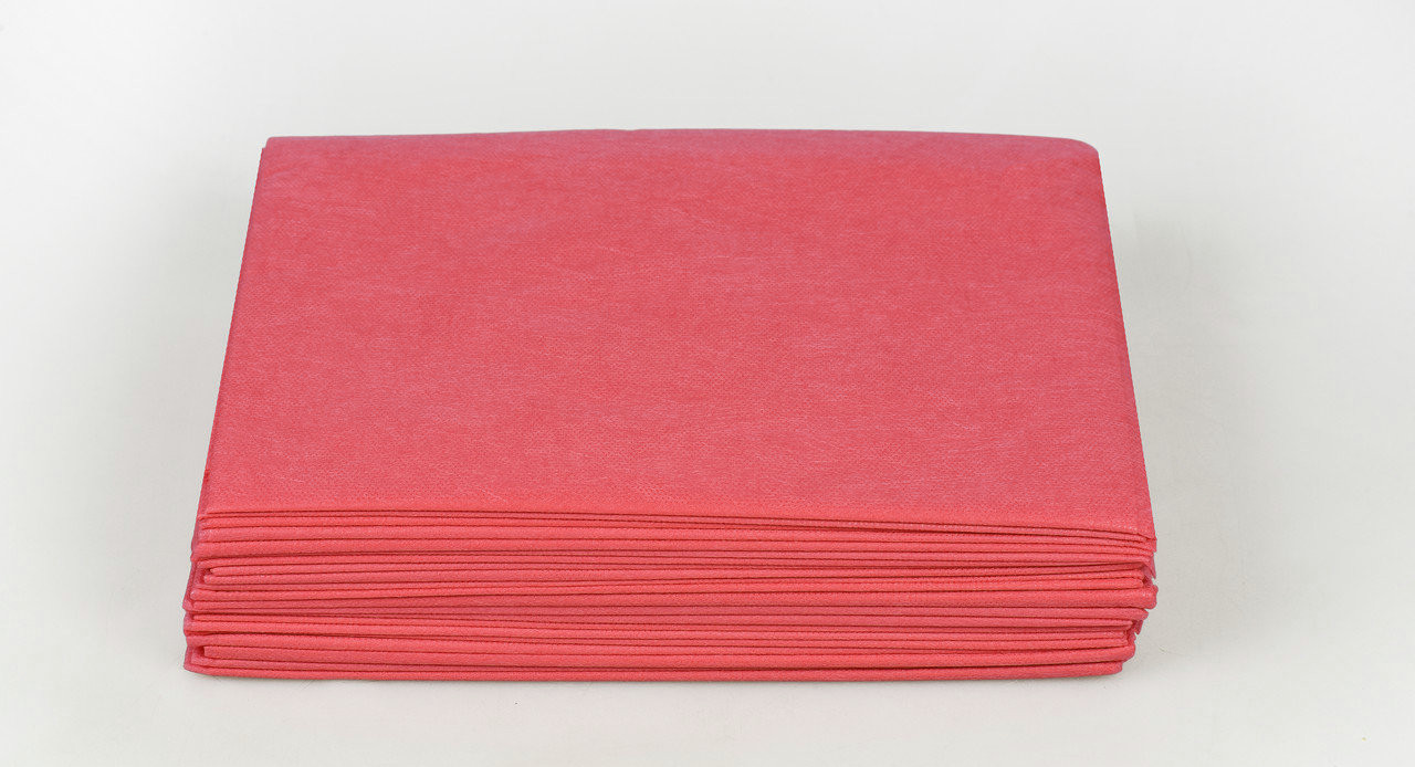 Одноразовые простыни в пачке Спанбонд Panni Mlada 20 г/м² 0,8x2 м 10 УП 500 ШТ Красные