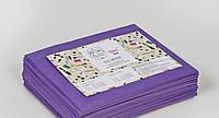 Одноразовые простыни в пачке Спанбонд Panni Mlada 20 г/м² 0,8x2 м 10 УП 500 ШТ Фиолетовые, фото 1