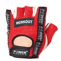 Перчатки для фитнеса и тяжелой атлетики Power System Workout PS-2200 S Red, фото 1