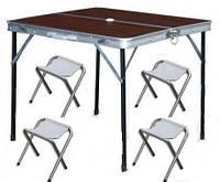 Набор для пикника FOLDING Camping, стол + 4 стула