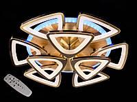 Светодиодная люстра с пультом-диммером и синей подсветкой бронза 3007-6+3, фото 1
