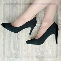 Женские туфли MeiDeLi 603-7 черная замша, фото 1