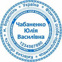 Печать предпринимателя с тремя степенями защиты №9