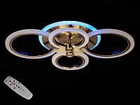 Светодиодная люстра с пультом-диммером и синей подсветкой бронза A-3003-4, фото 1