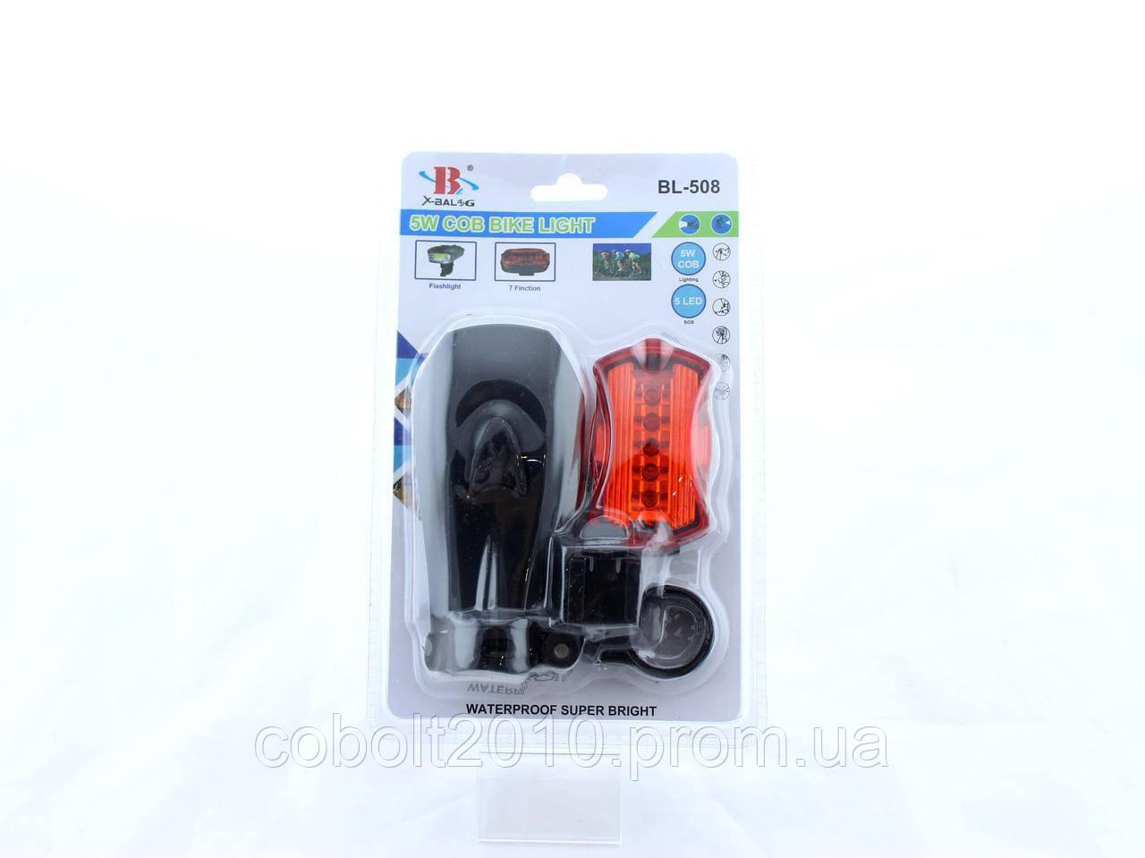 Фонарик / стоп велосипедный BL 508 COB