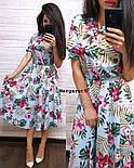 Женский летнее платье-миди в расцветках (в расцветках), фото 3
