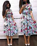 Женский летнее платье-миди в расцветках (в расцветках), фото 6