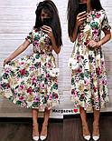 Женский летнее платье-миди в расцветках (в расцветках), фото 2