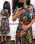 Женский летнее платье-миди в расцветках (в расцветках), фото 4