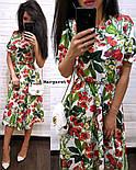 Женский летнее платье-миди в расцветках (в расцветках), фото 5