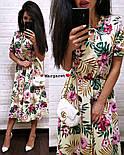 Женский летнее платье-миди в расцветках (в расцветках), фото 7
