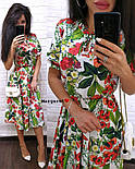 Женский летнее платье-миди в расцветках (в расцветках), фото 9