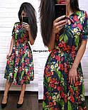 Женский летнее платье-миди в расцветках (в расцветках), фото 8
