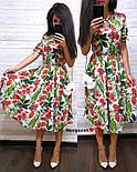 Женский летнее платье-миди в расцветках (в расцветках), фото 10