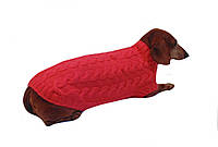 Вязанная одежда для собаки,свитер для таксы,свитер для собаки,теплая одежда для собаки