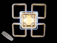 Светодиодная люстра с пультом-диммером и синей подсветкой бронза A-3011-4+1