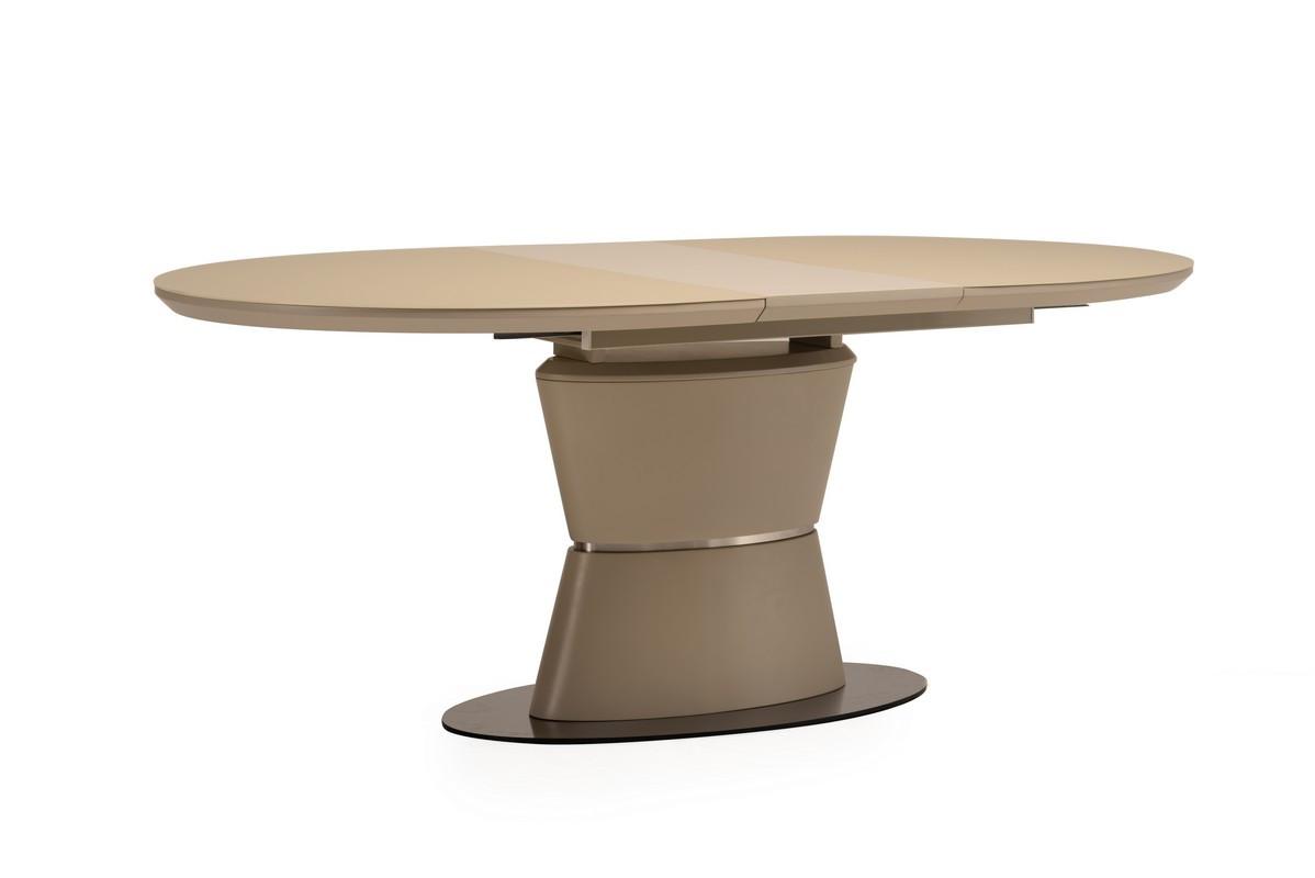 Раздвижной стол ТМL-755 матовый капучино Vetro Mebel 1,6/2 м (бесплатная доставка)