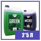 2*5 л GreenKit набор удобрений для гидропоники и почвы