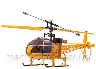Вертолёт 4-к большой на радиоуправлении WL Toys V915 Lama (желтый)