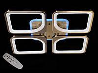 Светодиодная люстра с пультом-диммером и синей подсветкой бронза 2281-4, фото 1