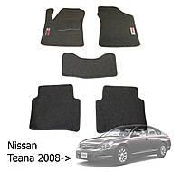 Коврики в салон Nissan Teana 2008-> (5 шт.) Ciak сер. вышивка