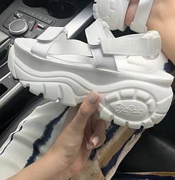 Женские сандалии Buffalo London Sandals White белые летние сандалии. Живое фото. Топ качество