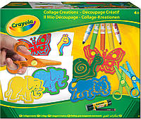 Набор для творчества Коллаж (ножницы, трафареты, фломастеры), Crayola