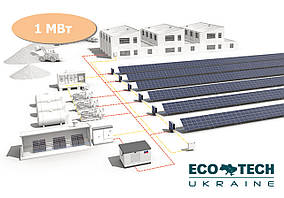 Промышленная солнечная электростанция 1 МВт под зеленый тариф