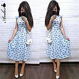 Женский летнее платье-миди софт (в расцветках), фото 2