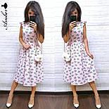 Женский летнее платье-миди софт (в расцветках), фото 6