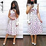Женский летнее платье-миди софт (в расцветках), фото 4