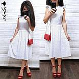 Женский летнее платье-миди софт (в расцветках), фото 9